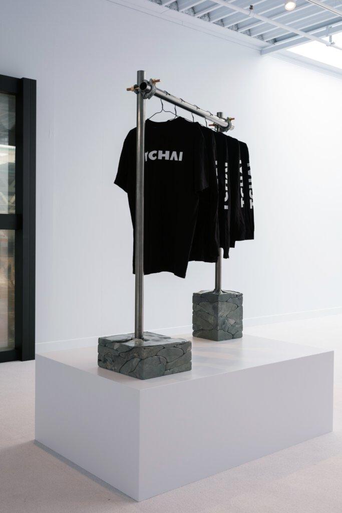 Tchai showroom - recycled clothing rack